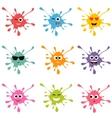 Set of colorful blot smileys vector image