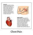 Pain in the heart of a woman vector image