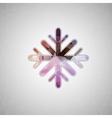 Creative concept icon of snowflake for Web vector image