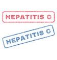 hepatitis c textile stamps vector image