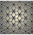 Metallic pattern on islamic motif vector image