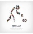 people sports petanque vector image