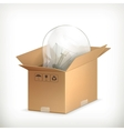 Light bulb in box vector image