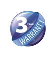 logo 3 years warranty vector image