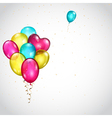 Background with bunch of colored balloons vector image