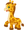 Little giraffe toy vector image