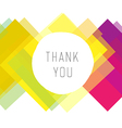 thank you colorful design vector image