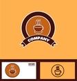 Coffee logo badge vector image