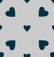 Heart sign icon Love symbol Seamless pattern with vector image