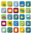 Hi tech color icons with long shadow vector image