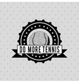 tennis club design vector image