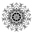 Abstract isolated mandala ornament vector image