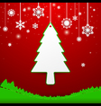 Christmas tree and snowflakes background vector image