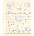 love theme paper design vector image