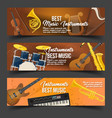 set of isolated badges for music instruments vector image