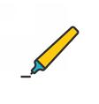 Marker Pen Outline Icon vector image