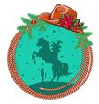 American cowboy Christmas background vector image vector image