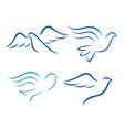 Stylised bird designs vector image vector image