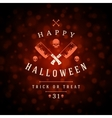 Vintage Happy Halloween Typographic Design vector image vector image