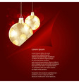 christamas background with golden balls beh vector image