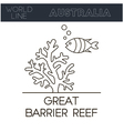 Great Barrier Reef Australia vector image
