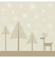 Deer in wood2 vector image vector image