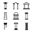 Column black icons vector image