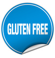 gluten free round blue sticker isolated on white