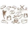 Bread set vector image