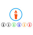 candle rounded icon vector image