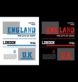 england typography design vector image