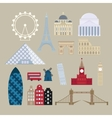 Flat cartoon style historic sight european vector image