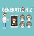 generation z conceptual set sign full length vector image