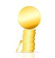 gold coin on white vector image