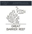 Great Barrier Reef Australia vector image