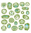 organic icon set vector image