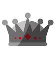 royalty crown icon imag vector image