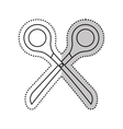 scissor accesory isolated icon vector image