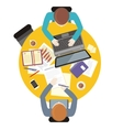 Work Space People for Table Design vector image