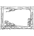 frame nature vector image vector image