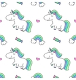 unicorns and rainbows vector image vector image