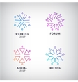 set of logos social relationship meeting vector image