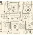 Mechanical seamless pattern 23 Retro background vector image