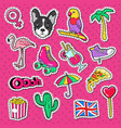 beach vacation doodle young woman stickers vector image