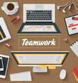 Trendy Flat Design Teamwork office vector image vector image