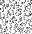 seamless pattern of sketch music notes vector image