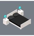 isometric bedroom vector image vector image