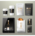 Coffee factory vintage corporate identity template vector image