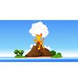 volcanic eruption cartoon vector image