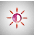 Creative concept icon of sun for Web and vector image